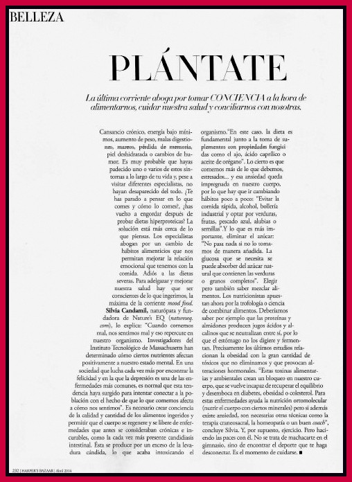 Harper's Bazaar España - Abril 2014